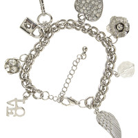 Double Chain Charm Bracelet | Shop Jewelry at Wet Seal