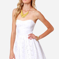 BB Dakota by Jack Patton White Eyelet Lace Dress