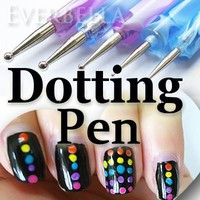 5PCS 10 sizes Set of Nail Art Design Dotting Pens tools 54216