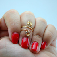 Swirl Knuckle Ring/ Swirl Midi Ring/ Wire Ring/ Knuckle Ring