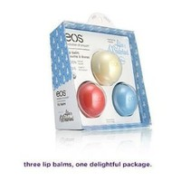 EOS Limited Edition 3-pack Lip Balm Collection - Blueberry Potion, Sweet Vanilla Nonsense & Watermelon Wonderland - Inspired By Disney Alice in Wonderland: Health & Personal Care