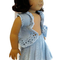 American Girl Doll Skirt Vest Set Blue