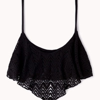 Crochet Lace Crop Top | FOREVER 21 - 2061552615