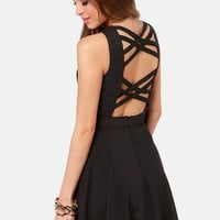 Chic-a-Boo Black Cutout Dress