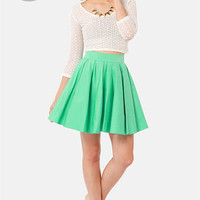 LULUS Exclusive Charm School Mint Green Mini Skirt