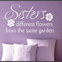 Vinyl Wall Lettering Family Quotes Sisters by WallsThatTalk