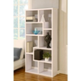 Hokku Designs EL-27090WH Masima Unique Bookcase / Display Cabinet in White: Furniture &amp; Decor