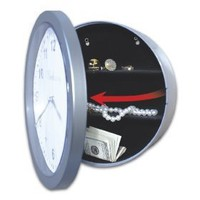 Working Wall Clock Safe With Hidden Secret Compartment Cash Dorm Fast Ship NEW