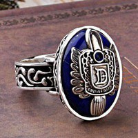 accessoryinlove  The Vintage Sterling Silver Vampire Diaries Damon Ring for Men
