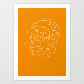 One Line The Thing Art Print by quibe