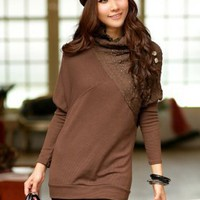 Rhinestone Coffee Ladies Knit Tops Chic - Simmee.com