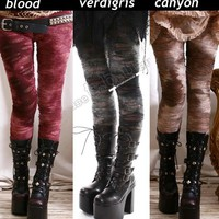 Punk Decay Distressed Broken HOLE Burnout MUMMY Legging