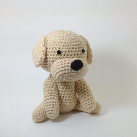 Amigurumi Crochet Dog : Dog Stuffed Animal Amigurumi Puppy from Inugurumi on Etsy My