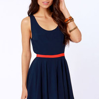 BB Dakota Royer Navy Blue Dress