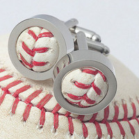 Blue Jays GAME USED Baseball Cufflinks w/ Gift Bag