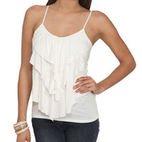 Ruffle Flounce Tank | Shop Tops at Wet Seal