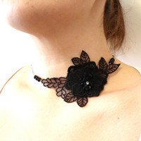 Lace Necklace, Women accessories, Floral Necklace, Bridesmaids, Gifts For her, Bridal Accessories