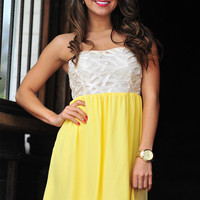 Completely Intertwined Dress: Lemon | Hope&#x27;s