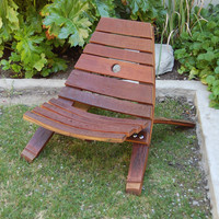 Wine Barrel Stave Small Outdoor Lounge Chair