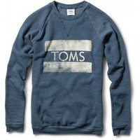Men&#x27;s Heather Dark Blue TOMS Classic Crew  | TOMS.com