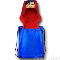 Superman Face Hooded Symbol Backsack
