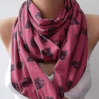 Pink - Infinity Scarf  Circle Scarf  Tube scarf....super loop