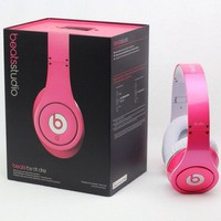 Beats by Dr. Dre High Definition Studio Headphone (Beats Edition)-pink