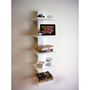 Spine Wall White Book Shelves  | Overstock.com