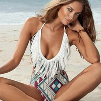 L*Space Stardust Fringe One Piece in Multi