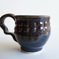 Liquid Blues Coffee Mug by BlindArtGallery on Etsy
