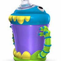 Amazon.com: Nuby Monster 7oz Monster 2 Handle No-Spill Sippy Cup- 4M+: Baby