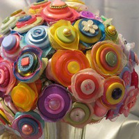 JILLIANNS STUNNING 50 STRAND CANDY BUTTON BOUQUET by JILLIANNS