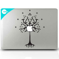 Hobbit, Lord of the Rings, Macbook Decal Sticker for your computer and more - Tree of Gondor - Decal 208