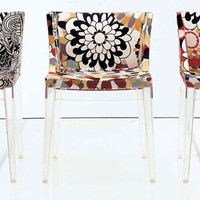 Kartell Mademoiselle Chair in Missoni Fabrics at Velocity Art And Design