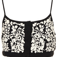 Button Front Floral Crop Top - New In This Week - New In - Topshop