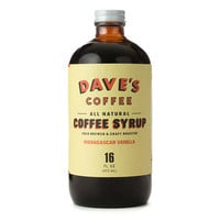Dave&#x27;s Coffee - All Natural Vanilla Coffee Syrup