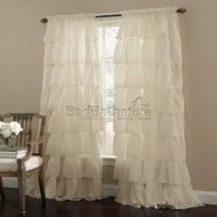 Amazon.com: Gypsy Ruffled Panel Cream: Home & Kitchen