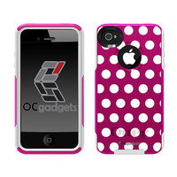 Otterbox iPhone 4 / 4s Commuter Series White Polka Dots by Unnito