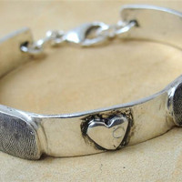 Fingerprint Bracelet Thumbprint Personalized by rockmyworldinc
