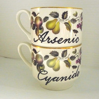 Arsenic Cyanide coffee cups by trixiedelicious on Etsy
