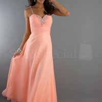 WowDresses — Elegant A-line Chiffon Evening Dress with Spaghetti Straps