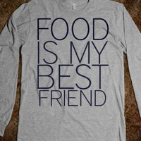 Food is My Best Friend Unisex Long Sleeve Tee