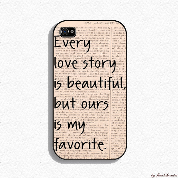 Our Story Iphone Case for Iphone 4 and iphone 4s