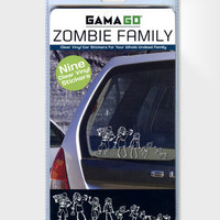 Zombie Family Car Stickers | Set of 9 Undead Stickers