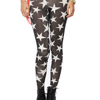 Papaya Clothing Online :: STAR PATTERN LEGGINGS