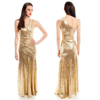 Gold Sequinned 'Dream Girls' Dress