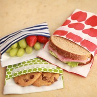 lunchskins, snack bag, green stripe