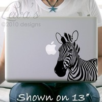 Zebra Laptop / Macbook / Notebook Computer Decal by lewasdesigns