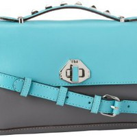 Rebecca Minkoff Mini Blake 10XEBLXCR2 Shoulder Bag,Turquoise,One Size: Clothing
