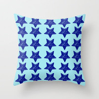 polar stars Throw Pillow by Randi Antonsen